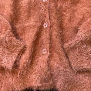 Lulu's Tops - Fuzzy Cardigan